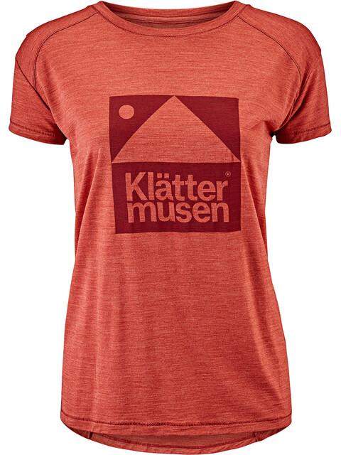 Klättermusen Eir - Camiseta manga corta Mujer - Short Sleeve naranja